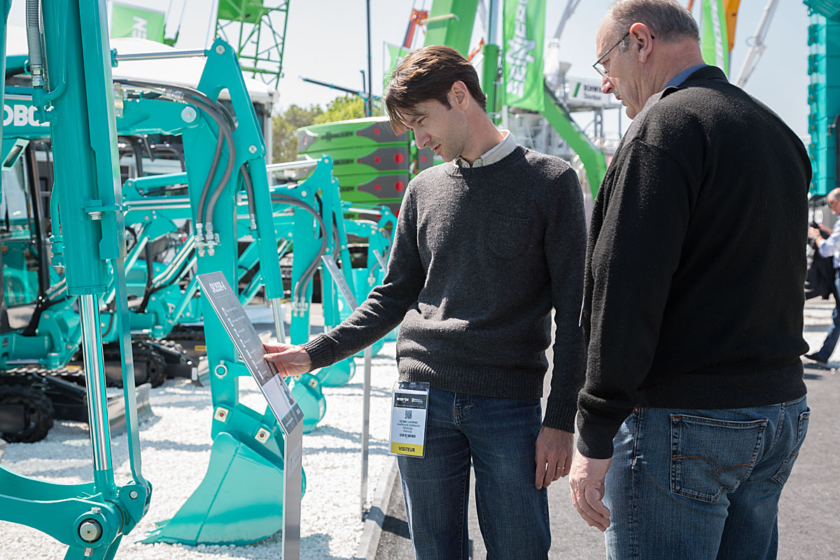 Kobelco at Intermat 2015