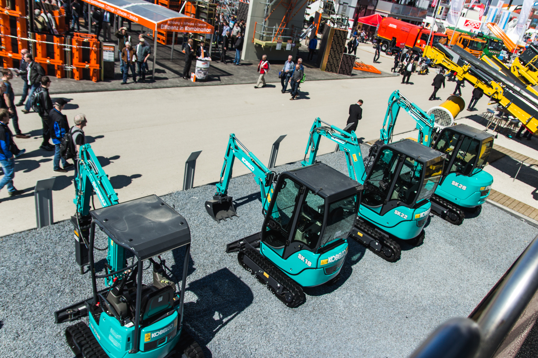 Kobelco compact excavators at Bauma 2016